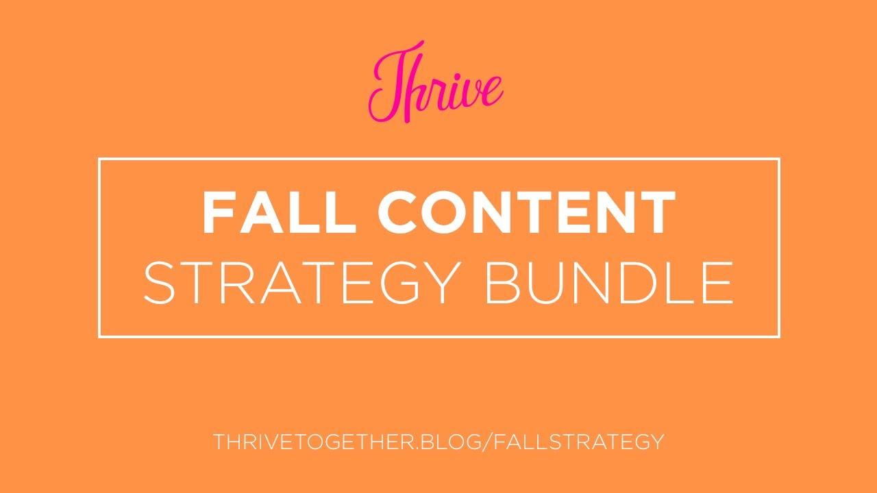 Fall Strategy Bundle for Bloggers