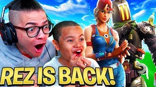 MINDOFREZ PLAYS DUOS WITH HIS LITTLE BROTHER!!! MINDOFREZ RETURNS TO FORTNITE AND THIS HAPPENED...