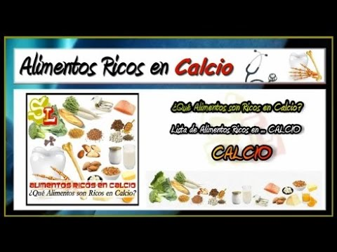 Lista de alimentos ricos en calcio frutas con calcio comidas ricas en calcio youtube - Alimentos que tienen calcio ...