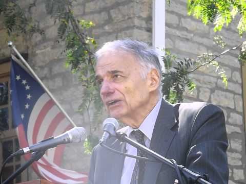 Ralph Nader -- Occupy Peace -- Free Tuition