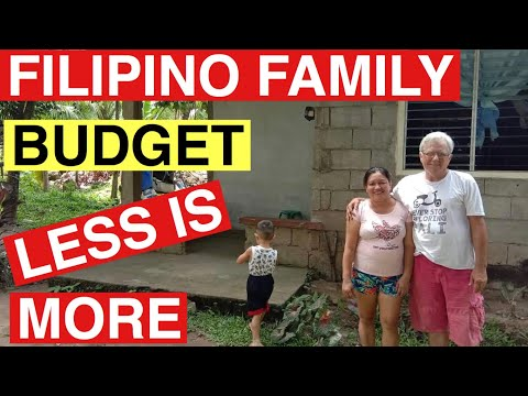 Filipino Family Budget, Less is More
