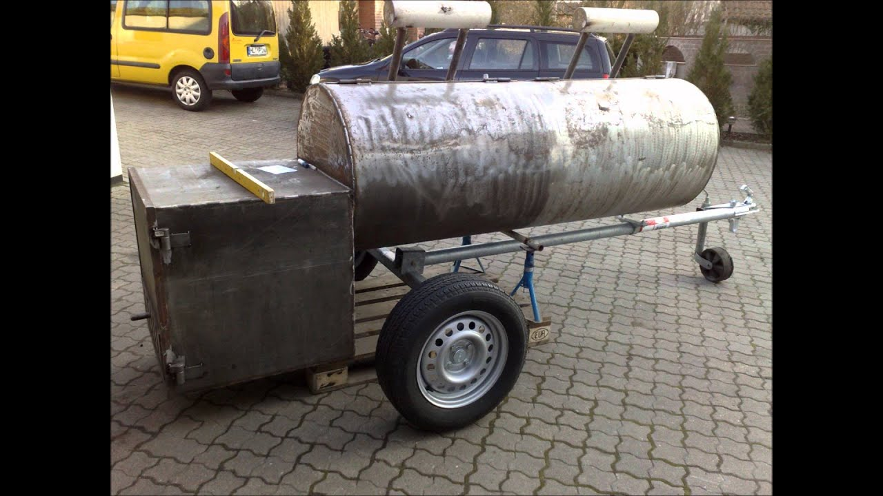 BIG BBQ Smoker selber bauen (Germany)  YouTube