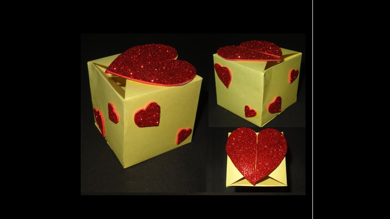 Paper Crafts Gift Box tutorial: Beautiful Valentine\'s Day heart ...