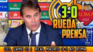 Real Madrid 3-0 AS Roma Rueda de prensa de LOPETEGUI Champions (19/09/2018)