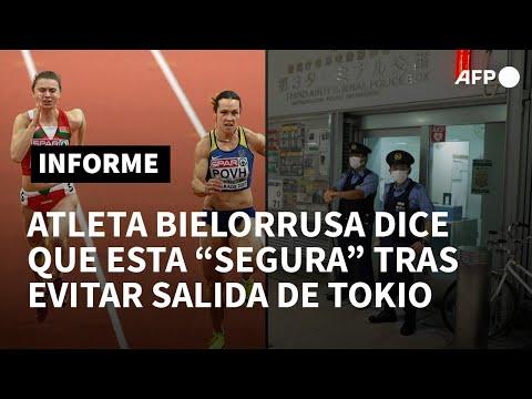 "Atleta bieolorrusa afirma estar ""segura"" tras evitar una salida forzosa de Tokio | AFP"