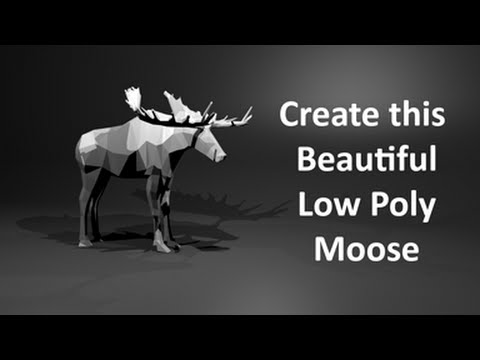 Low Poly Moose | Time-lapse with commentary | Blender