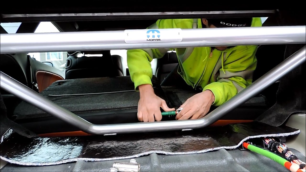 medium resolution of dodge challenger shaker scatpack srt rear strut brace installation