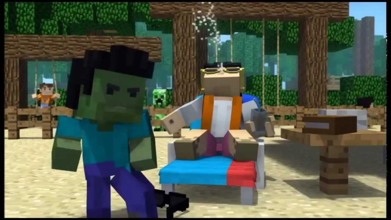 minecraft style a parody of psy s gangnam style 1 hour with