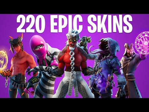FORTNITE ALL EPIC SKINS (All 11 Season Skins)