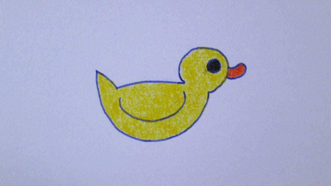 Cómo dibujar un pato kawaii - YouTube