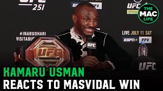 Kamaru Usman reacts to Jorge Masvidal win; wants to see Masvidal vs. Colby Covington