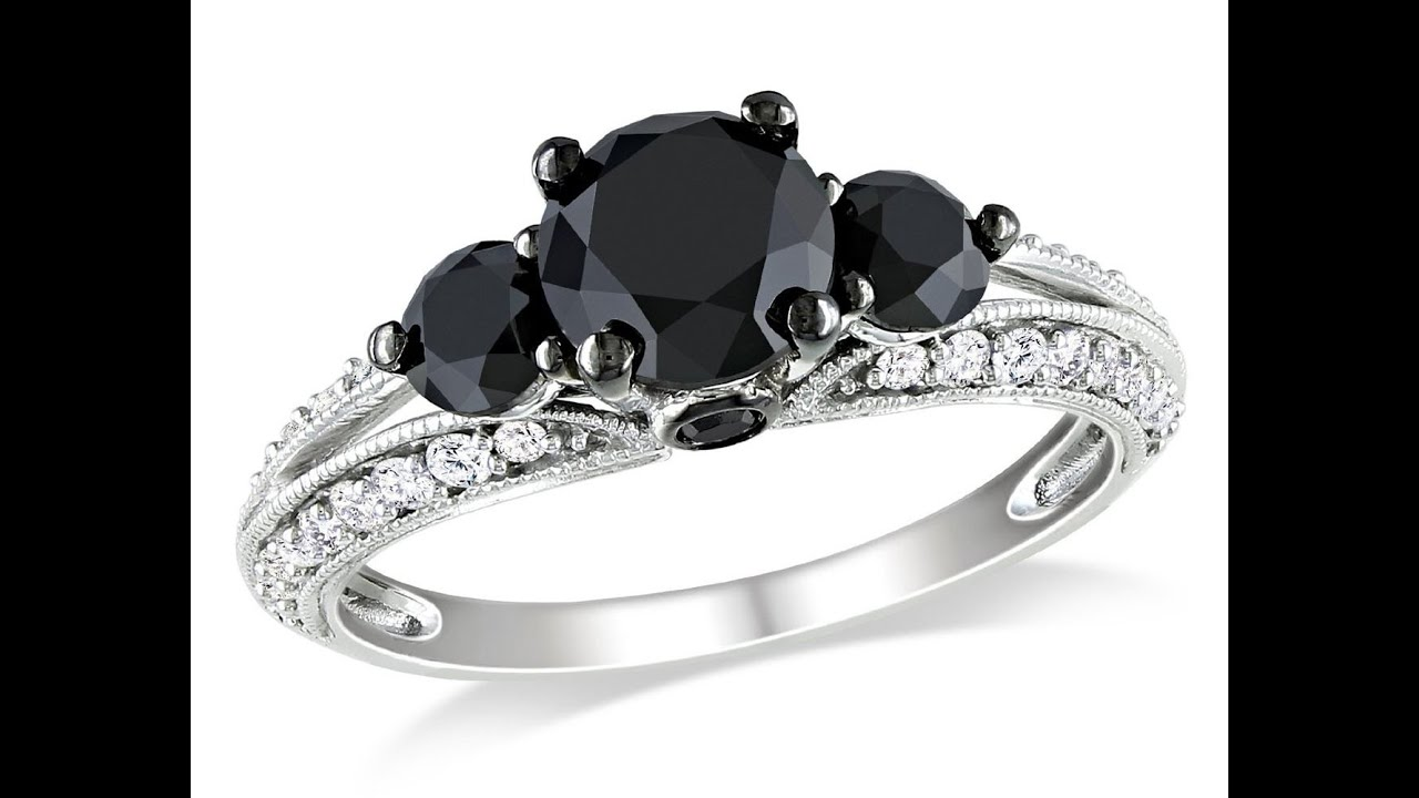 Diamond Engagement Rings  Black Diamond Engagement Rings  Diamond  Engagement Ring  Youtube