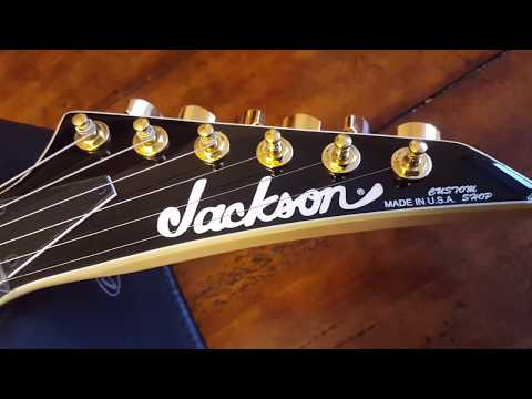 JACKSON RR24 RANDY RHOADS 1H CUSTOM SHOP SPECIAL EDITION GUITAR VIDEO REVIEW UP CLOSE ABALONE!