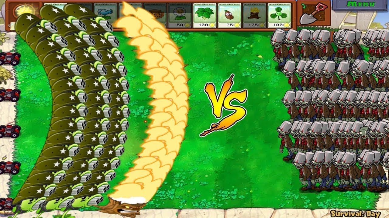 Plants vs Zombies Hack – 999 Zombie vs Gatling Pea vs Gargantuar