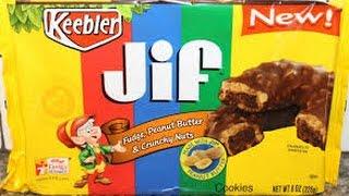 Keebler Jif Fudge Cookies, Peanut Butter & Crunchy
