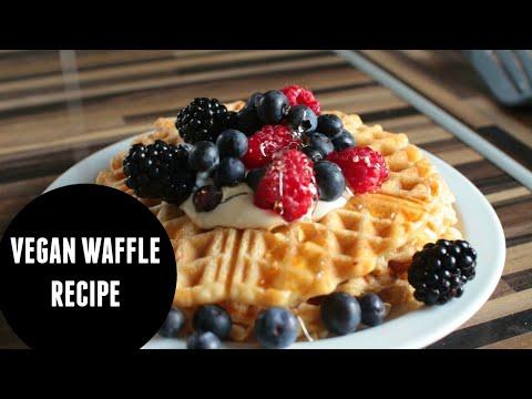 VEGAN WAFFLE RECIPE // low fat