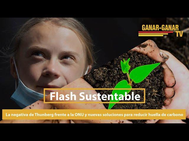 La negativa de Thunberg frente a la ONU y nuevas soluciones para reducir huella de carbono