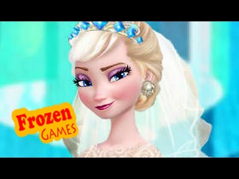 Disney frozen games elsa wedding dress