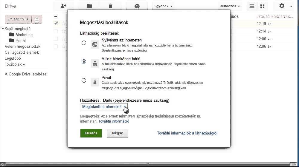 Google drive használati útmutató