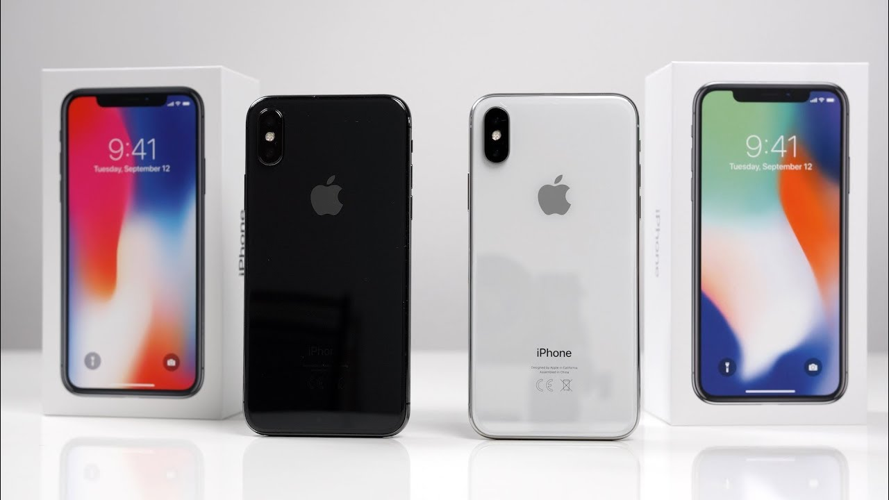 IPHONE X WEISS VS SPACEGRAU
