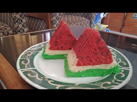 Resep BOLU SEMANGKA Anti Gagal - Watermelom Steam Cake