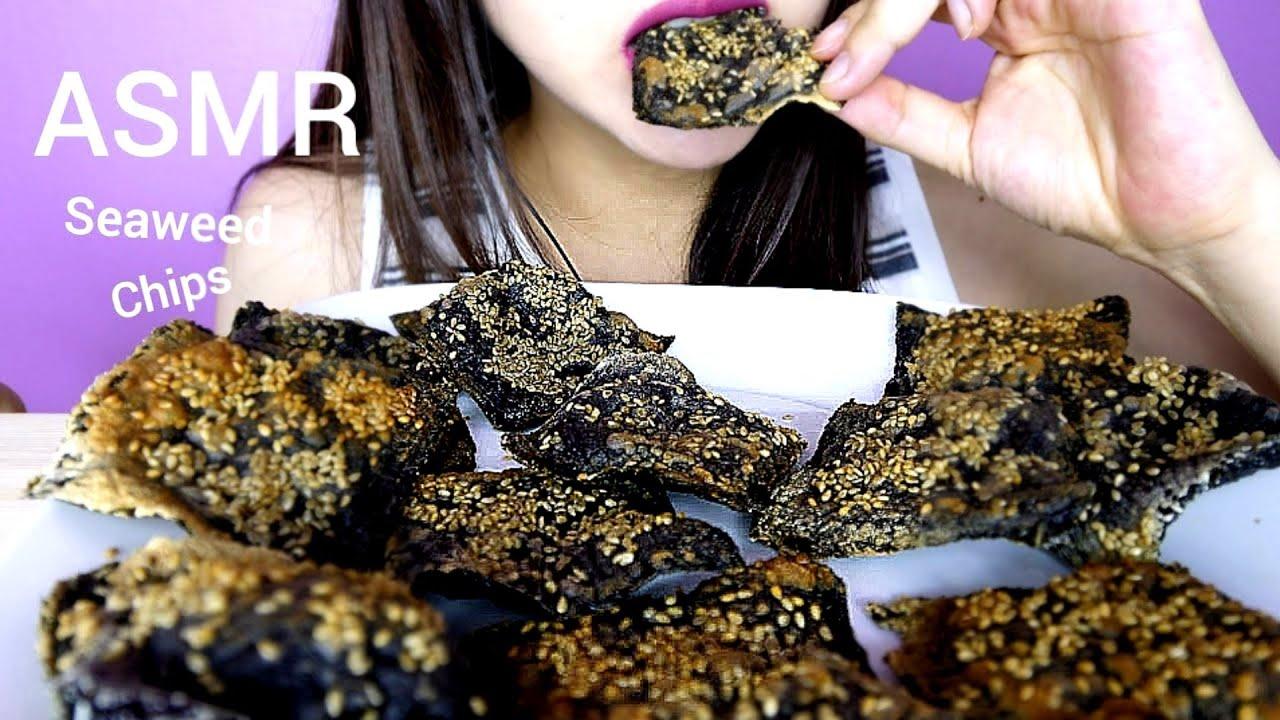 Asmr Mukbang Seaweed Chips Crunchy Eating Sounds Eating Show No Talking Yoojin Eats