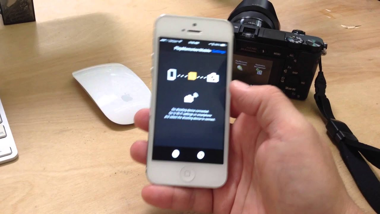 Sony A6000 Camera With Iphone Smart Remote Control Youtube