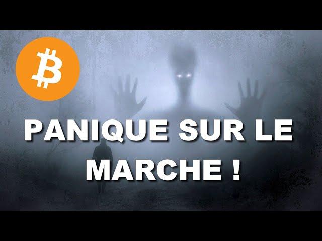 PANIQUE SUR LE MARCHE DES CRYPTOMONNAIES !