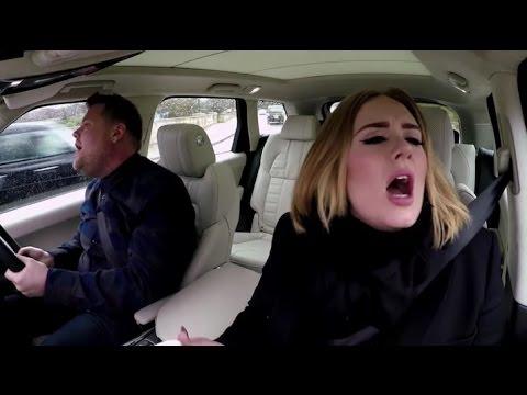 Carpool Karaoke with Adele new vedio 2017