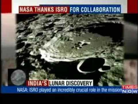 we found water on moon courtesy isro says nasa youtube