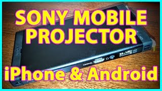 Sony MP-CL1 Mini Projector | iPhone or Android