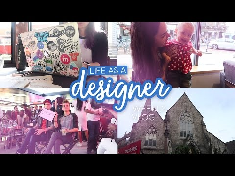 Cafe working, YouTube party & visiting Dublin! | Life as a designer weekly vlog