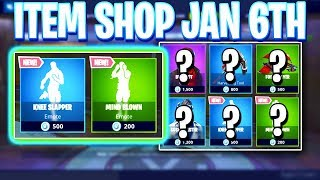Fortnite Item Shop! 2 NEW EMOTES! Daily & Featured Items! (January 6th 2019)