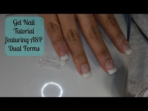 Gel Nail Tutorial Ft Asp Dual Forms Msnikkigbeauty