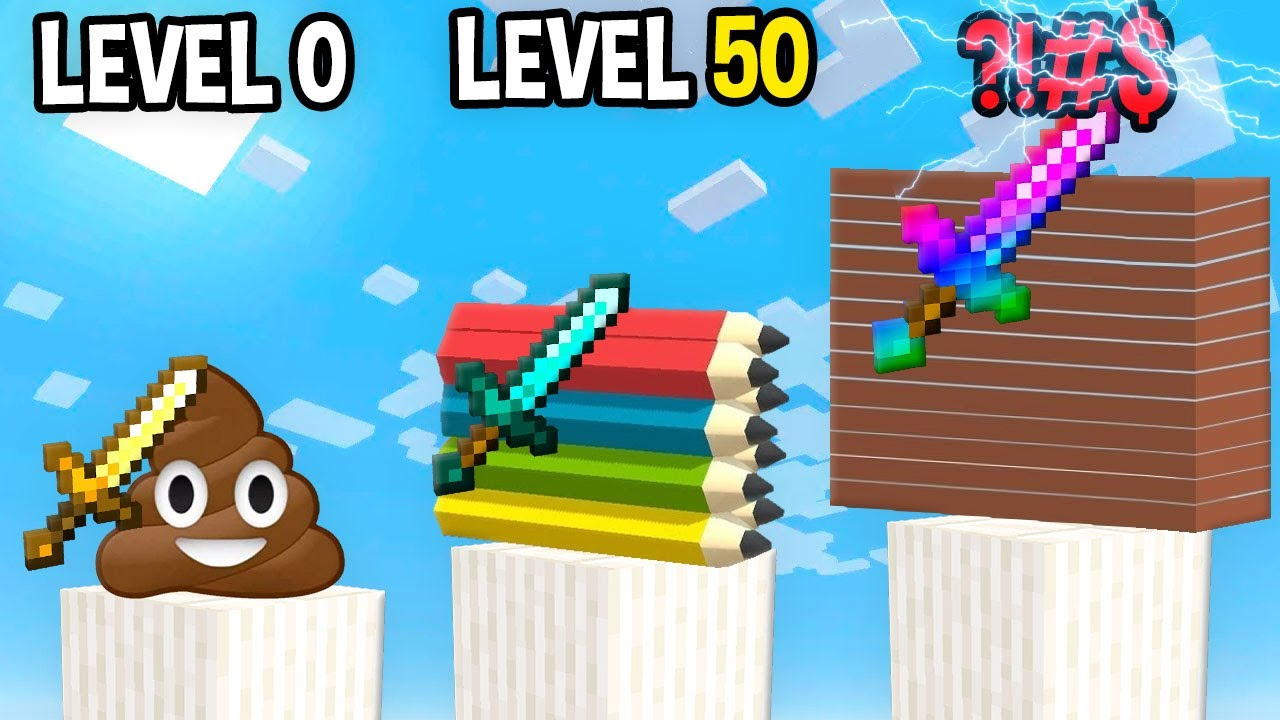 Monster School: Slice It All GamePlay Mobile Game Max Level LVL Noob Pro Hacker Minecraft Animation