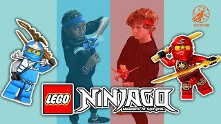 LEGO NINJAGO Masters of Spinjitzu - The Golden Dragon Master, The Ninja Kids and the Flying Toys