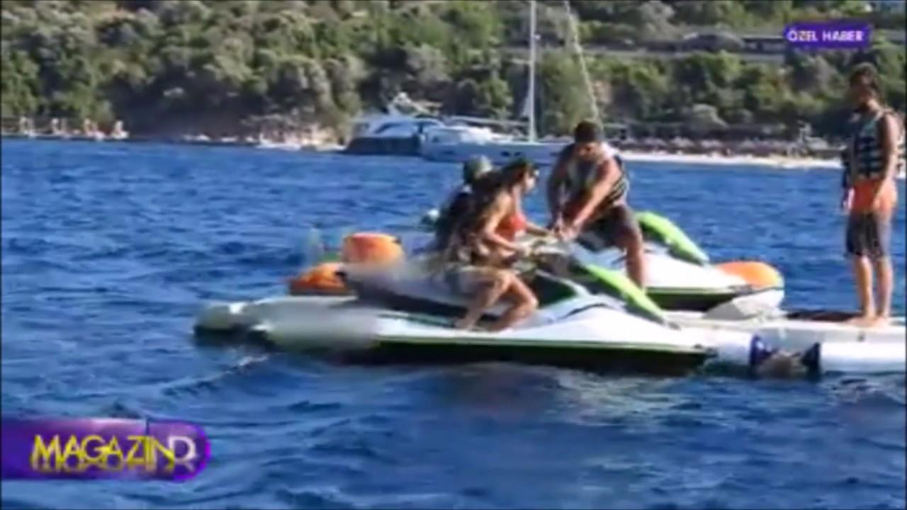 Selen Görgüzel Bikinili Kaza!! Hamdi Alkanın Eşi Frikik verdi