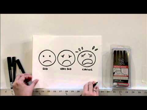 drawing basic faces emotion with deb aoki youtube