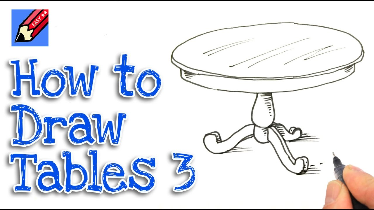 round table drawing how to draw a round dining table real easy step by step 9135