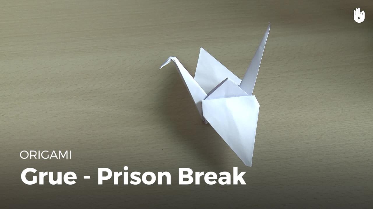 Faire La Grue De Prison Break Origami Youtube