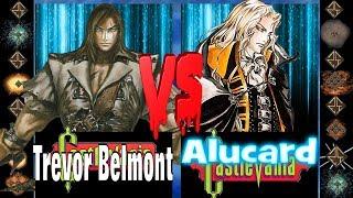 Trevor Belmont (Castlevania) vs  Alucard (Castlevania) - Ultimate Mugen Fight 2017