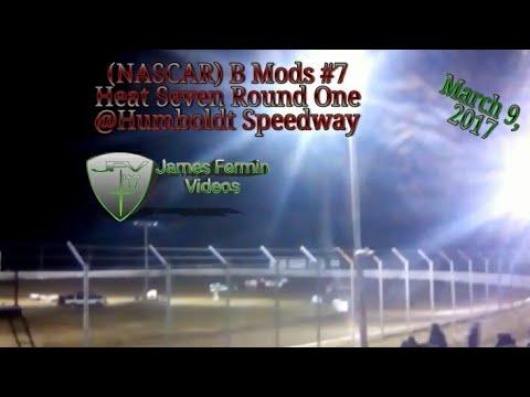 B Mod #7, Round 1 Heat 7, Thursday Night, Humboldt Speedway, 2017