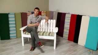 Coral Coast 43 x 14 Porch Swing and Glider Cushion - Product Review Video
