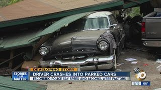 Classic cars take a beating in Escondido crash