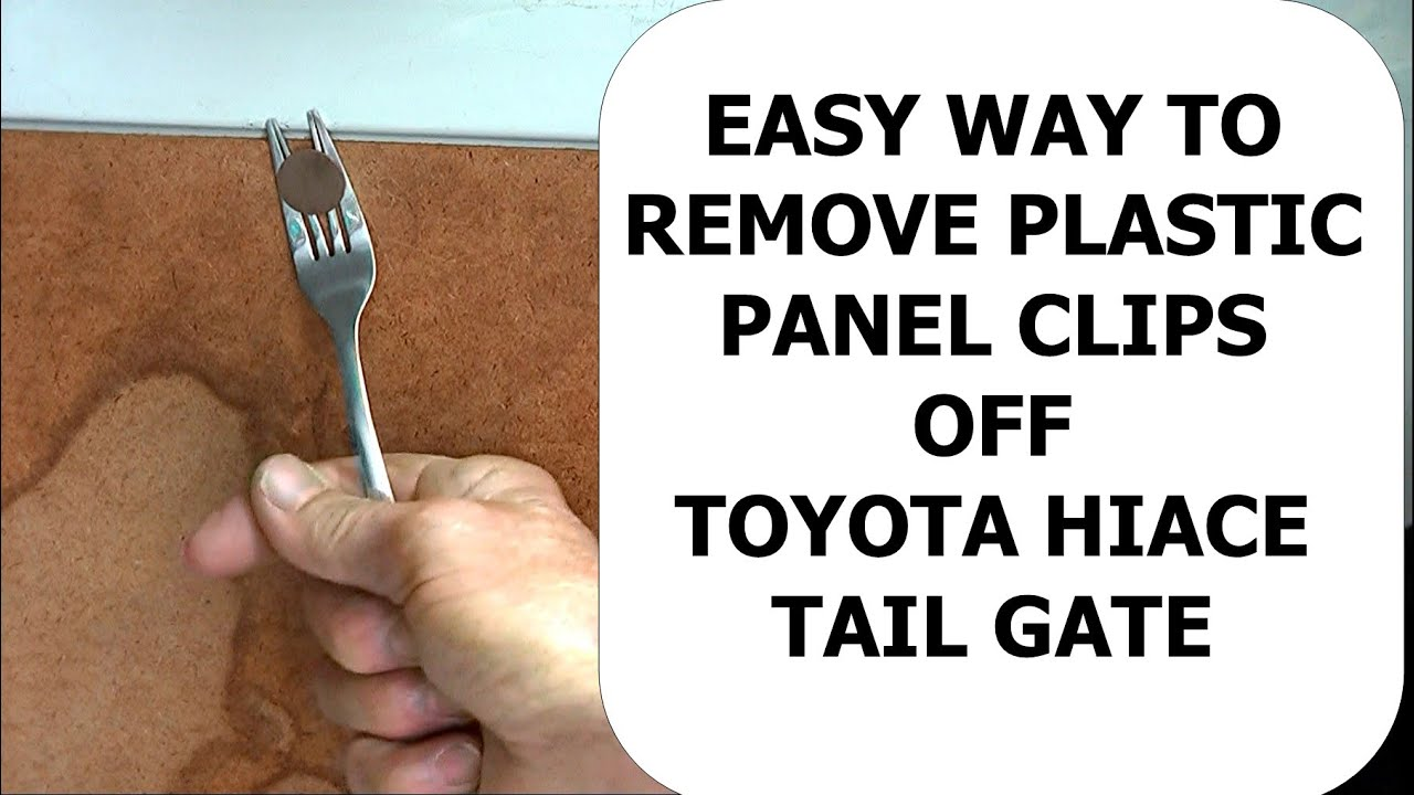 Dinner Fork Remove Plastic Panel Clip Youtube