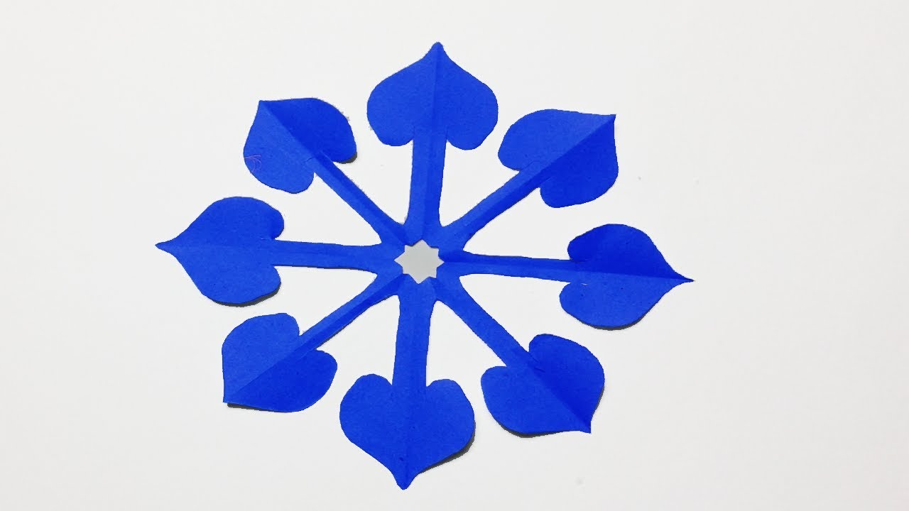How to make Simple Paper cutting Flower?Paper cutting pattern Making Instruction step by step