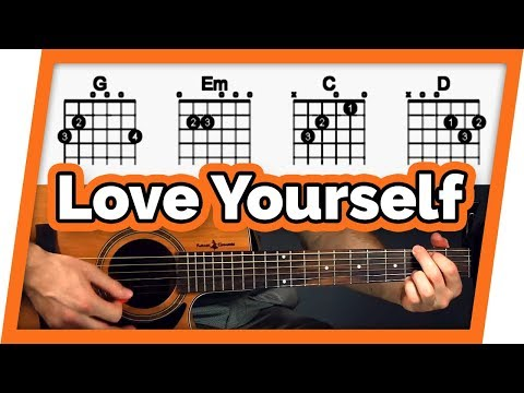 Love Yourself Guitar Tutorial (Justin Bieber) Easy Chords Guitar Lesson