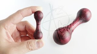 Aroundsquare Wooden Knucklebone | Purple Heart Wood Knuckle Roller