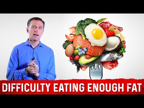 Difficulty Eating Enough Fat (75 Percent Total Calories) on Keto and Intermittent Fasting?: Dr.Berg