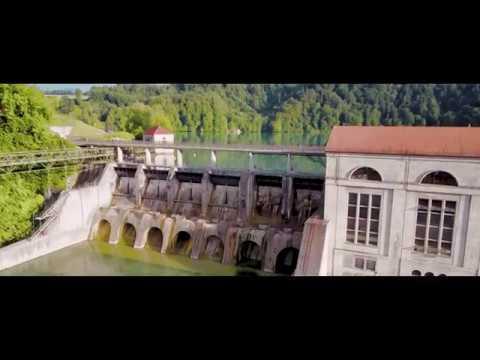 Switzerland DJI Mavic 4K Aerial Mühleberg